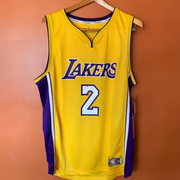 29a47d7f1054 Los Angeles Lakers Lonzo Ball Fanatics Jersey
